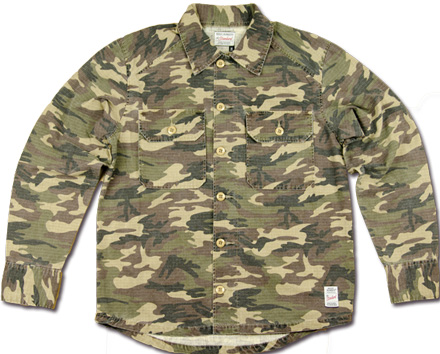 MAGIC NUMBER Holiday最新ITEM Cotton Rip-Stop Camouflage Shirt