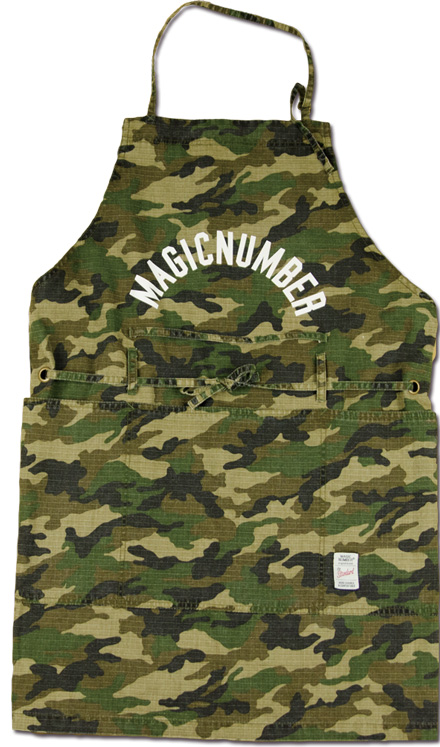 MAGIC NUMBER Holiday最新ITEM Cotton Rip-Stop Camouflage Utility Apron