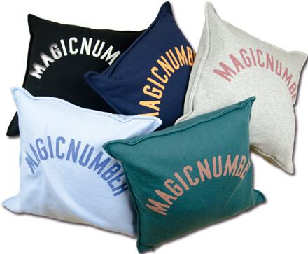 スウェット地のカジュアルクッション『Sweat Logo Cushion』 MAGIC NUMBER Holiday ITEM