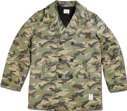 MAGIC NUMBER Holiday最新ITEM Cotton Camouflage Peacoat