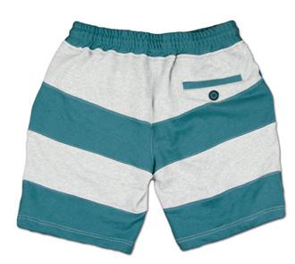 大胆な切替ボーダーのスウェットショーツ『Exchange Border Sweat Shorts』--『Blue. Vol.46』,『STANDARD with UNIQUE』記事掲載商品 #10_GRN_B