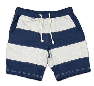 大胆な切替ボーダーのスウェットショーツ『Exchange Border Sweat Shorts』--『Blue. Vol.46』,『STANDARD with UNIQUE』記事掲載商品 #10_NAV