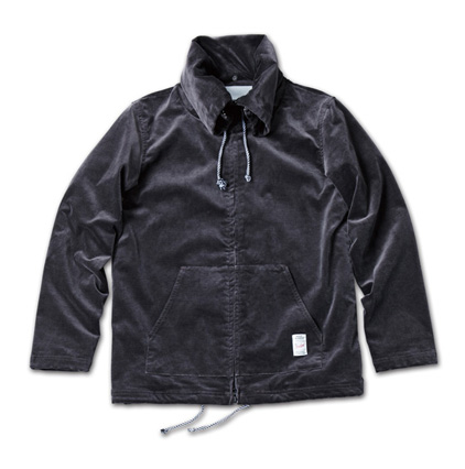 ストレッチコーディロイジャケット『Packable Hoodie Zip-Up Jacket (Stretch Corduroy)』MAGIC NUMBER 14SS最新ITEM_Charcoal