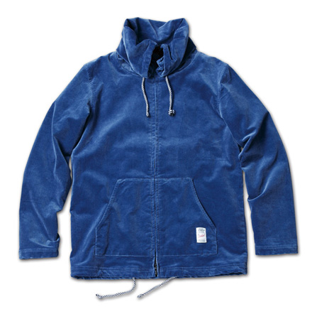 ストレッチコーディロイジャケット『Packable Hoodie Zip-Up Jacket (Stretch Corduroy)』MAGIC NUMBER 14SS最新ITEM_Navy