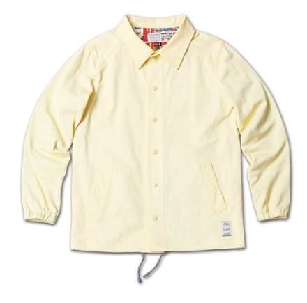 『RUDO 4月号』掲載『Cotton Stretch Twill Coach Jacket』MAGIC NUMBER 14SS最新ITEM_LtYellow