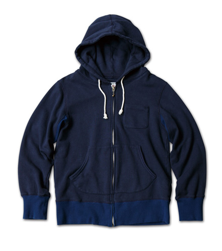 カラーリングが鮮やかなフーディ『Solid Zip-Up Sweat Hoodie Washed』MAGIC NUMBER 14SS最新ITEM_Navy