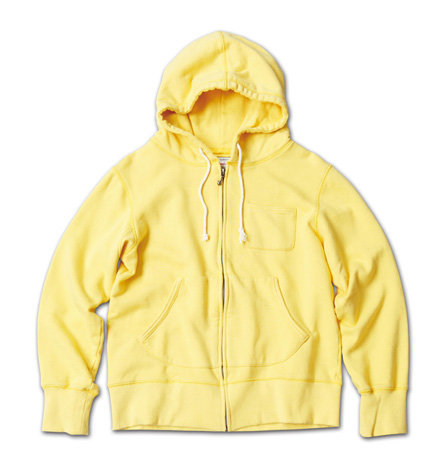 カラーリングが鮮やかなフーディ『Solid Zip-Up Sweat Hoodie Washed』MAGIC NUMBER 14SS最新ITEM_Yellow