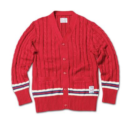 トラディッショナルな雰囲気のケーブルニット『Cable Knit Cardigan』MAGIC NUMBER 14SS最新ITEM_burgandy