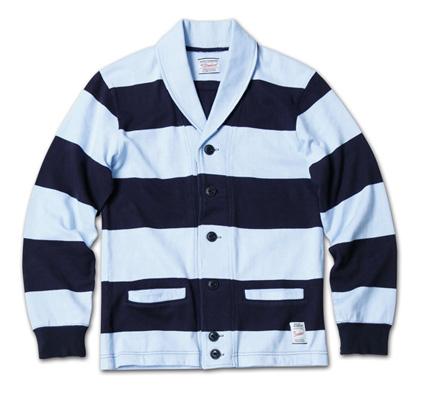 スポーティなボーダーカーデ『Heavyweight Cotton Jersey Border Cardigan』MAGIC NUMBER 14SS最新ITEM_NavyxSax