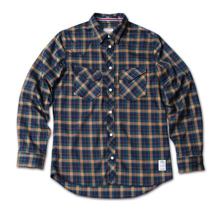 ギンガムチェックとタータンチェックの2種類あるウエスタンシャツ『Gingham Check & Tartan Check Western Shirts』MAGIC NUMBER 14SS最新ITEM_NAvyxGreen