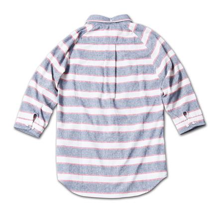MAGIC NUMBER 14SS最新ITEM Cotton / Linen Border 3/4 Sleeve Shirt