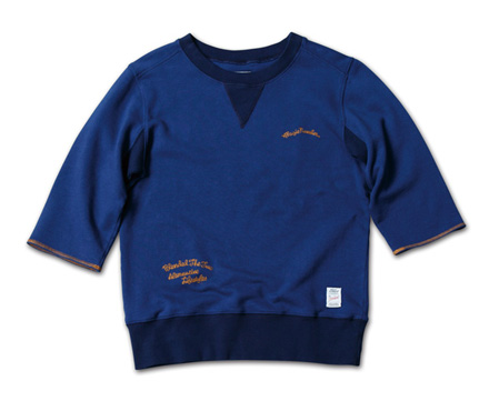 七分袖のクルースウェット『Garment Dye 3/4 Sleeve Sweat Crew』 MAGIC NUMBER 14SS最新ITEM_Navy
