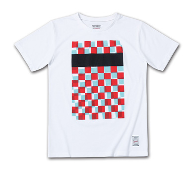 ラフなチェッカーパターンのT『CT Checker Pattern Tee』MAGIC NUMBER 14HS最新ITEM_White
