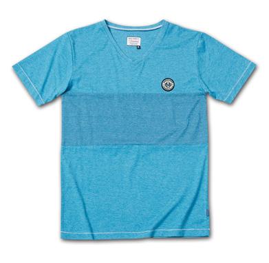 後染めバイカラーVネックT『2Tone Exchange Panel Border V-Neck Tee Garment Dye』--2014/5/10発売『Blue.』6月号 掲載商品 #5_Lt-navy