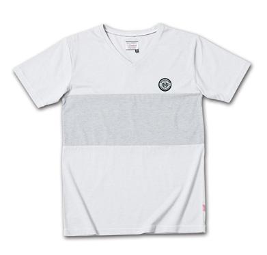 後染めバイカラーVネックT『2Tone Exchange Panel Border V-Neck Tee Garment Dye』--2014/5/10発売『Blue.』6月号 掲載商品 #5_Lt.gray