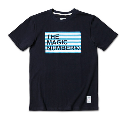 ボーダーボックスロゴT『Border Box Logo Tee』MAGIC NUMBER 14SS最新ITEM_Navy