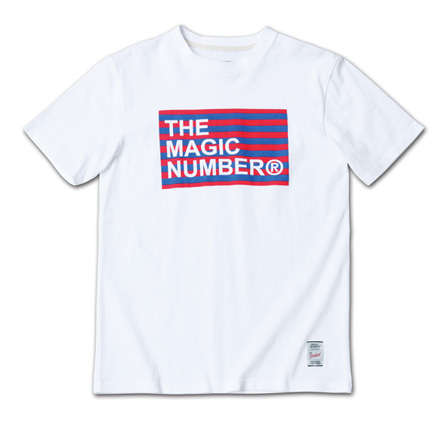 ボーダーボックスロゴT『Border Box Logo Tee』MAGIC NUMBER 14SS最新ITEM_White