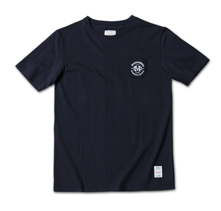 新たなデザインロゴのタイニーポケT『Circle Logo Print Tiny Pocket Tee』MAGIC NUMBER 14SS最新ITEM_Navy