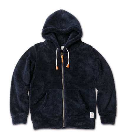 lue. No.44(ブルー12月号)に掲載 MAGIC NUMBER AW最新ITEM Soft Boa Zip-up Hoodie