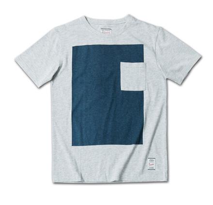 大胆なバイカラープリントTシャツ--『Blue. Vol.46』,『STANDARD with UNIQUE』記事掲載商品 #4_Hgrey