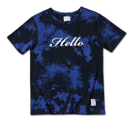 大人っぽい配色のタイダイT「Tie Dye Tee」MAGIC NUMBER 14SS ITEM_Navy