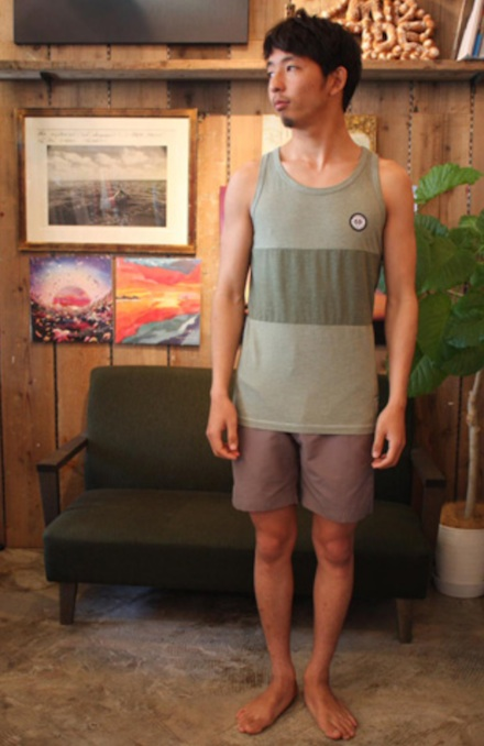 製品染めが独特な風合いを醸し出すタンク『2Tone Exchange Panel Border Tanktop Garment Dye』MAGIC NUMBER 14HS最新ITEM