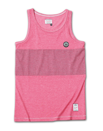 製品染めが独特な風合いを醸し出すタンク『2Tone Exchange Panel Border Tanktop Garment Dye』MAGIC NUMBER 14HS最新ITEM_Lt.burgundy