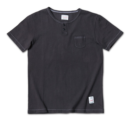 『LEON 4月号掲載』 のヘンリーネック『Overdyed Henry-Neck Tee』MAGIC NUMBER 14SS最新ITEM_Black