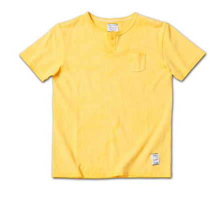 『LEON 4月号掲載』 のヘンリーネック『Overdyed Henry-Neck Tee』MAGIC NUMBER 14SS最新ITEM_Mastard