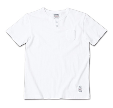 『LEON 4月号掲載』 のヘンリーネック『Overdyed Henry-Neck Tee』MAGIC NUMBER 14SS最新ITEM_White