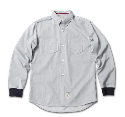 Blue. No.44(ブルー12月号)に掲載 MAGIC NUMBER AW最新ITEM Hickory Stripe Rib Cuff BD Shirts