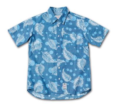 オリジナルパターンのショートスリーブシャツ『 Cotton Twill Original Pattern Shirts S/S』--2014/5/10発売『Blue.』6月号 掲載商品 #6_Leaf