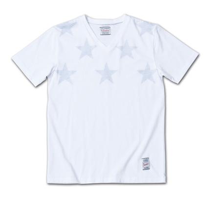 透け感がさりげない、星とボーダの裏プリントT『Stars & Stripes Inside Print Tee』MAGIC NUMBER 14SS最新ITEM_Stars_Navy