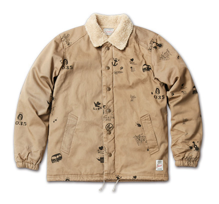 アーティスティックなジャケット『Hand Drawing Coach Jacket』MAGIC NUMBER AW ITEM_Beige