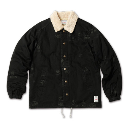 アーティスティックなジャケット『Hand Drawing Coach Jacket』MAGIC NUMBER AW ITEM_Black