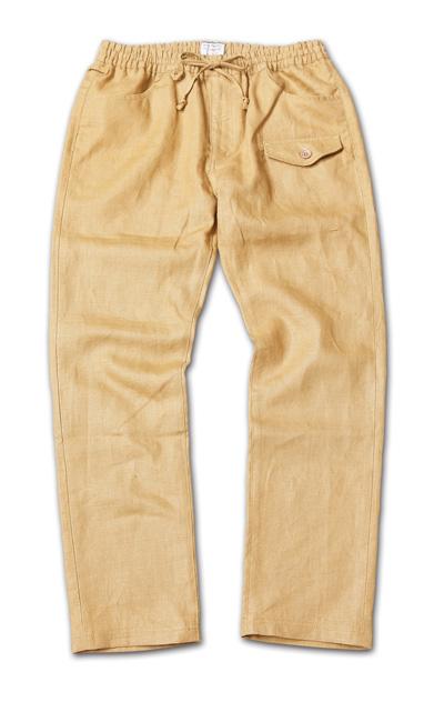 麻素材のイージーパンツ『Linen Easy Pants』『Blue.』No.48 掲載商品 no.1_Camel