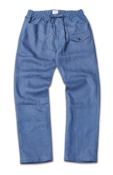 麻素材のイージーパンツ『Linen Easy Pants』『Blue.』No.48 掲載商品 no.1_Navy