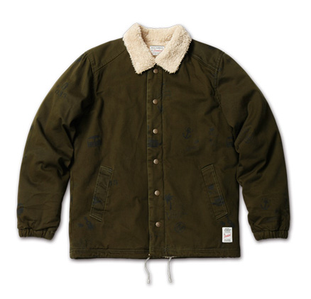 アーティスティックなジャケット『Hand Drawing Coach Jacket』MAGIC NUMBER AW ITEM_Olive