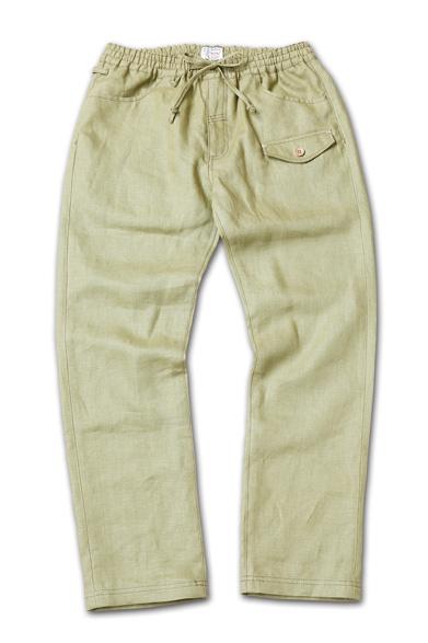 麻素材のイージーパンツ『Linen Easy Pants』『Blue.』No.48 掲載商品 no.1_Olive