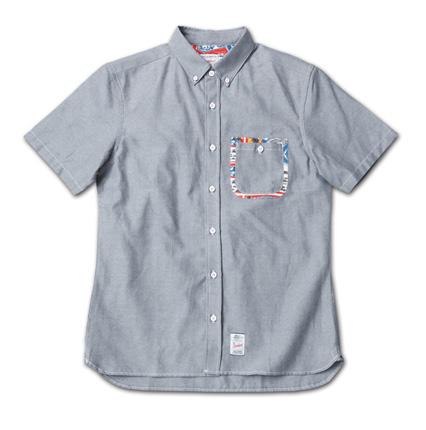 ポケットにこだわりのオックスフォードシャツ『Oxford Plain BD S/S Shirt』MAGIC NUMBER 14SS最新ITEM_Black