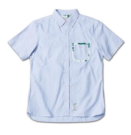 ポケットにこだわりのオックスフォードシャツ『Oxford Plain BD S/S Shirt』MAGIC NUMBER 14SS最新ITEM_Blue