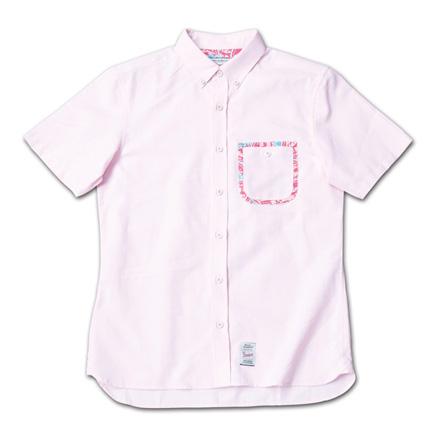 ポケットにこだわりのオックスフォードシャツ『Oxford Plain BD S/S Shirt』MAGIC NUMBER 14SS最新ITEM_Pink