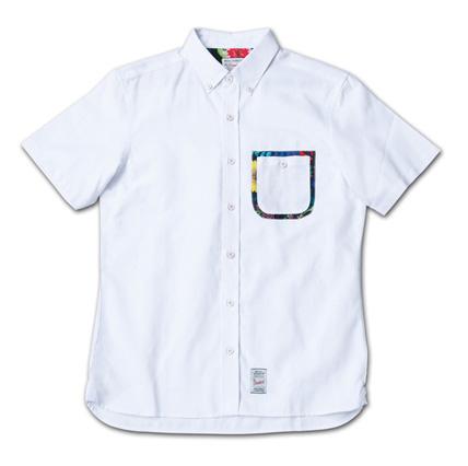 ポケットにこだわりのオックスフォードシャツ『Oxford Plain BD S/S Shirt』MAGIC NUMBER 14SS最新ITEM_White