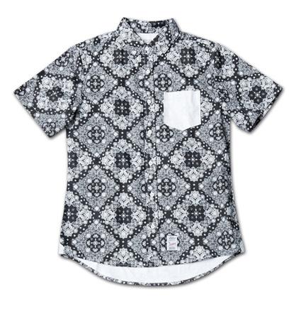 『Paisley Pattern BD S/S Shirt』 2014/5/24発売『RUDO (ルード)  』7月号 掲載 Magic Number Press_Black