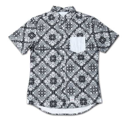 『Paisley Pattern BD S/S Shirt』 2014/5/24発売『RUDO (ルード)  』7月号 掲載 Magic Number Press_BlackxBlue