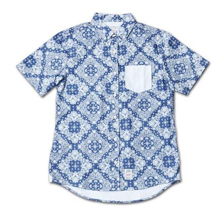 『Paisley Pattern BD S/S Shirt』 2014/5/24発売『RUDO (ルード)  』7月号 掲載 Magic Number Press_Blue