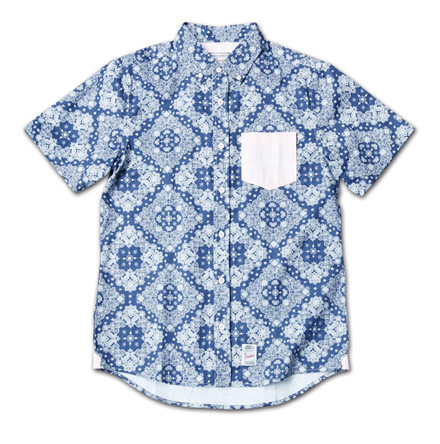 『Paisley Pattern BD S/S Shirt』 2014/5/24発売『RUDO (ルード)  』7月号 掲載 Magic Number Press_BluexRed_F