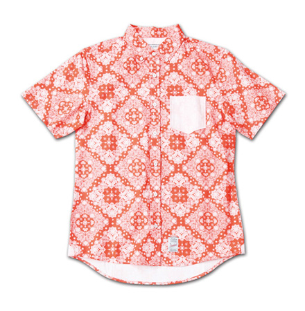 『Paisley Pattern BD S/S Shirt』 2014/5/24発売『RUDO (ルード)  』7月号 掲載 Magic Number Press_Red