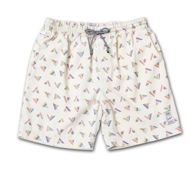 オリジナル柄のビンテージ風イージーショーツ『 Original Pattern Easy Shorts Washed』--2014/5/10発売『Blue.』6月号 掲載商品 #8_White