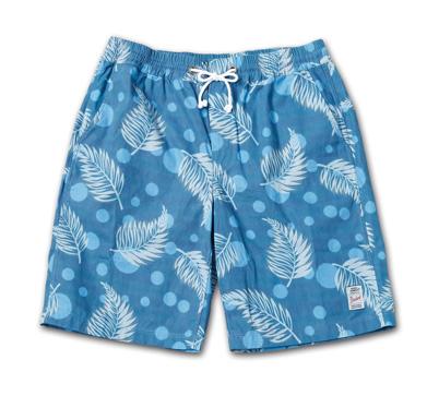 オリジナル柄のショーツ『Cotton Twill Original Pattern Eazy Shorts 』--2014/5/10発売『Blue.』6月号 掲載商品 #9_Leaf
